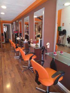 Interior de una peluqueria